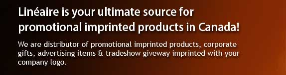 Linéaire is your ultimate source for promotional imprinted products in Canada!